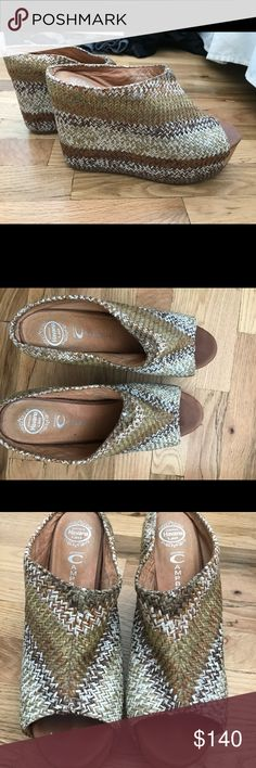 Jeffrey Campbell Woven Platform Wedges My favorites! Jeffrey Campbell size 9- great condition Jeffrey Campbell Shoes Wedges