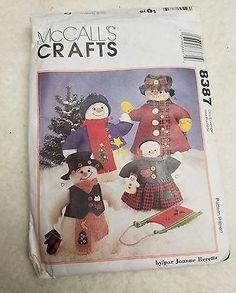 McCalls Crafts Snowman Doll Pattern 1996