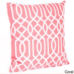 Embroidered Design Down Filled Throw Pillow | Overstock.com Shopping - Great Deals on Throw Pillows coral