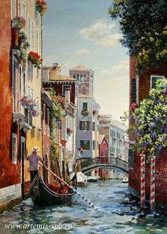 Ölgemälde der Creative Union Artemi … – Gergana Petrova – Join the world of pin Venice Painting, Italy Painting, Art Watercolor, Oil Painting Abstract, Italian Paintings, Abstract City, Art Pictures, Photos, Jolie Photo