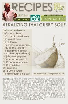Soups Stews, Liver Detox, Raw Soups, Detox Recipes, Curry Soup ...