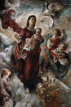 La Madonna della Speranza 2004 - olio su tela 120x180 cm Collezione della Fondazione ''Primavera Fine Art Foundation'', Stati Uniti