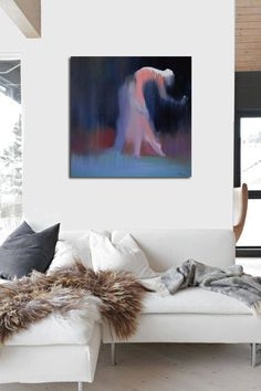 Love art print Giclee print modern contemporary Dance by Pysar