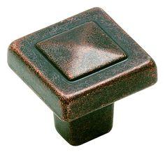 Forgings 1-1/8in 29mm LGTH Knob in Rustic Bronze BP4429RBZ