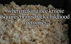 When making rice krispie squares brings back childhood memories
