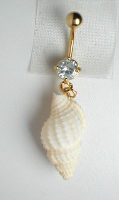 $8.95 Unique Belly Ring - Seashell 13