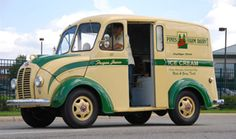 Twin Pines milk truck. Our milk was delivered in glass bottles to a milk chute on the side of the house.