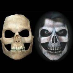 skull full face halloween latex mask