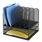 """Found it at Wayfair - Mesh Desk Organizer, Eight Sections, 13.5"""" Wide Can go in closet downstairs, mail organizer, or any other paperwork"""