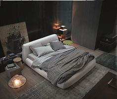 POLIFORM: Big Bed, Flute coffee table, Dama coffee table and Play pouf