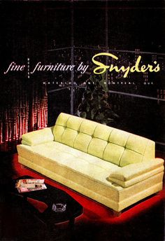 Fine furniture from Snyder's (1952).