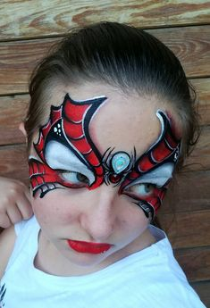 38 Spiderman Face Painting Ideas For Kids Spider Face Painting, Spider Man Face Paint, Superhero Face Painting, Dragon Face Painting, Face Painting For Boys, Belly Painting, Halloween Face Paint Scary, Halloween Makeup For Kids, Halloween Art