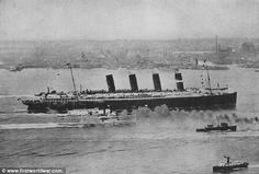 The Lusitania arriving in New York City circa 1907. We here at Cheops Books sailed past the very spot where the Lusitania sank 100 years ago. From deck 7 of the Queen Mary 2 we took photos of the coast of Ireland near Queenstown where the survivors of the sinking, including our heroine Dora Benley, came ashore in rowboats.
