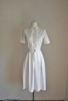 vintage 60s nurse uniform  NURSE NANCY shirt waist dress by MsTips, $28.00
