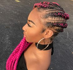 Fierce pink via Braids by Jherese - https://blackhairinformation.com/hairstyle-gallery/fierce-pink-via-braids-jherese/ #naturalhairstylesupdos