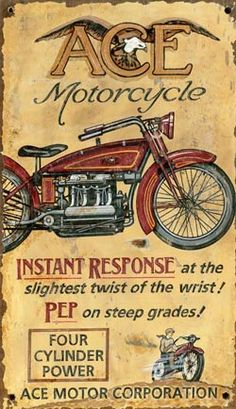 Click to find out more about Ace Motorcycle Vintage Wood Sign