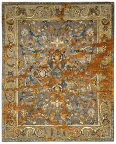 Jan Kath, Classical Elements, Silk Material, New Perspective, Arabesque, Minimalist Design, Brown And Grey, Oriental, Carpet