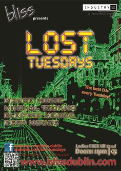 2012.11 Lost Tuesdays Poster House Music, Techno, Lost, Posters, Good Things, Postres, Banners, Billboard, Poster