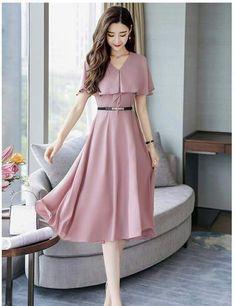 Vestidos delicados Trendy Dresses, Simple Dresses, Elegant Dresses, Cute Dresses, Beautiful Dresses, Casual Dresses, Modest Fashion, Hijab Fashion, Fashion Dresses