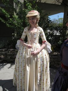 I'm just getting started in century but so far I have three finished dresses. I've also made three pairs of stays, so basically a new . 18th Century Dress, 18th Century Costume, 18th Century Clothing, 18th Century Fashion, 18th Century Stays, 17th Century, Renaissance Corset, Rococo Fashion, Historical Clothing
