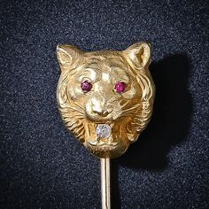 Antique Tiger Stickpin - 150-1-2812 - Lang Antiques