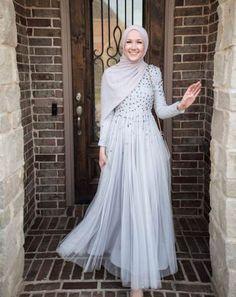 Dress abaya kfat muslim hijab kaftan dress dress- fav in 201 Long Dress Fashion, Look Fashion, Fashion Dresses, Muslim Fashion, Hijab Fashion, Dress Brokat Modern, Hijabi Gowns, Hijab Dress Party, Hijab Wedding Dresses