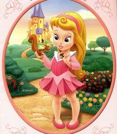 Imagens para Decoupage: As Princesas bebês da Disney