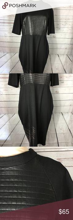 Asos Dress Faux leather detail. Long. So cute. Asos Dresses Midi