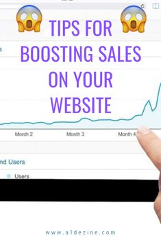 Tips for boosting sales on your website -