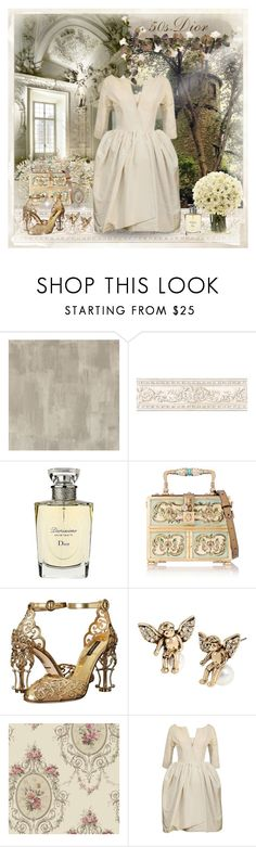 """""""Dior Elegance"""" by dezaval ❤ liked on Polyvore featuring Designers Guild, Christian Dior, Dolce&Gabbana, Betsey Johnson, York Wallcoverings and vintage"""