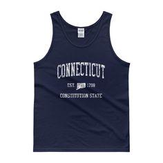 Vintage Connecticut CT Tank Top Adult