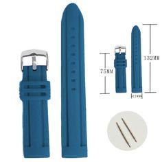 22mm و كلاسيكي أزرق اللون مطاط السيليكون للجنسين حزام الأشرطة WB1073J22JB
