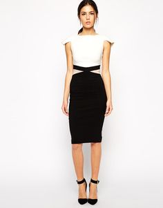Vesper | Vesper Alice Pencil Dress at ASOS