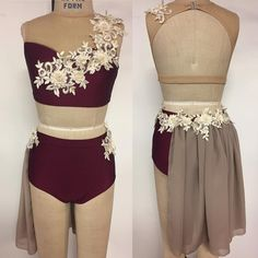 Can't wait to complete this beautiful Etsy dance costume #dance #dancecostume #custom #maroon #almostdancetime