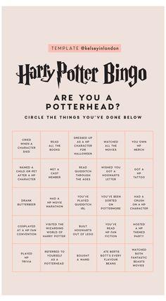 Harry Potter World, Harry Potter Humor, Harry Potter Stories, Mundo Harry Potter, Harry Potter Spells, Harry Potter Pictures, Harry Potter Love, Collection Harry Potter, Bingo Template