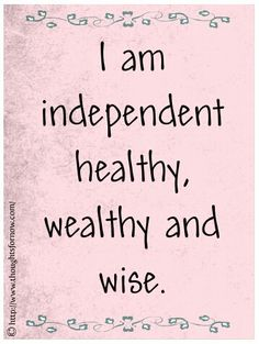 health wealthy affirmation
