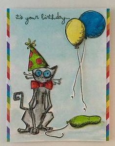 https://flic.kr/p/GSama2 | Crazy Cat Birthday | I used Tim Holtz Crazy Cats, Crazy Things, Distressed inks and markers.