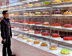 this is a typical cake store in japan that stores a large variety of cakes and sells them to the public.