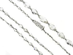 Platinum IMPORTANT 34.01cts GRADUATED Navette shape Diamond drilled bead chain (34long)  http://www.luciecampbell.com/necklaces/All/1349--1/  £ContactUs  richard@luciecampbell.com  Lucie Campbell Jewellers Bond Street London  http://www.luciecampbell.com