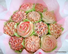 Pretty in pink cupcake bouquet
