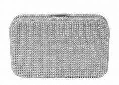Bolsa de Festa Prata - linda clutch em strass prata #bolsaclutch #clutchprata #bolsadefesta #clutch #chademulher