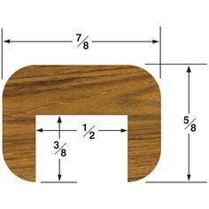 Whitecap Teak Cap Molding Small - 5' [60841]