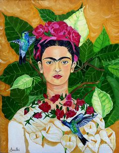 Frida In Heaven Painting - Frida Kahlo Diego Rivera, Art Heaven, Heaven Painting, Frida E Diego, Frida Art, Mexican Artists, Mexican Folk Art, Art Amour, Kahlo Paintings