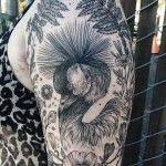 Tattoos of Flora and Fauna Reminiscent of Woodcut Etchings by Pony Reinhardt