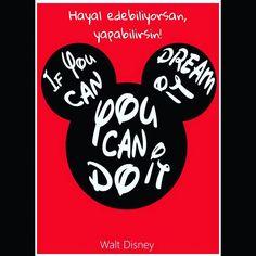 Hayal edebiliyorsan yapabilirsin! İyi geceler ❤ #anneakli #annetavsiyesi #iyigeceler #goodnight #hayalet #hayallerininpesindengit #mickey #waltdisney #dream #doit