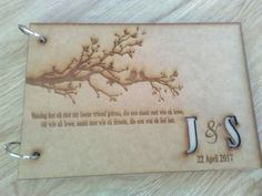 Laser engraved wedding guest book #wedding #die nessie