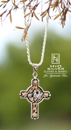 Show off your favorite rodeo event with this popular cross pendant! Different stone colors & rodeo events available at hyosilver.com SKU: PNX010-EV, $210