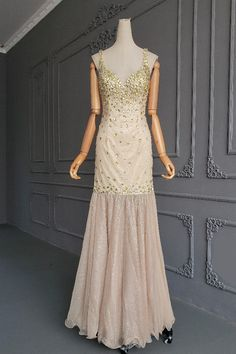 Stunning Mermaid Long Champagne Tulle Crystal Beaded Prom Evening Dress With Straps Orange Blush, Purple Grey, Blush Pink, Winter Prom Dresses, Evening Dresses, Formal Dresses, Prom Dresses Online, Crystal Beads, Hot Pink