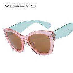 MERRY'S Borboleta Marca de Óculos Da Moda Óculos De Sol Das Mulheres Gato Olho Óculos de Sol de Alta qualidade Óculos de sol UV400