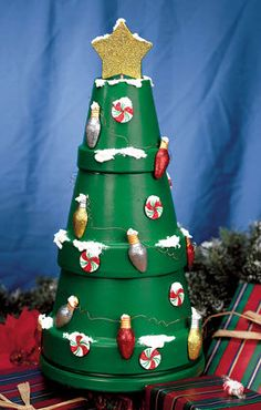 DecoArt® Trim Your Terra Cotta Tree #claypot #craft #christmas